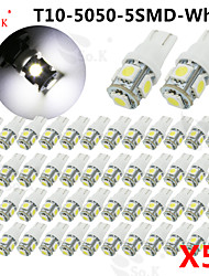 50 X White red yellow green blue pink ice blue warm white T10 /921/912 Interior/License Plate SMD Light Bulbs 5050 5-LED