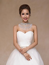 Wedding  Wraps Collars Sleeveless Sequined Ivory Wedding Crystal / Pearls