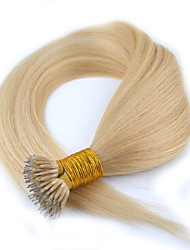 """1pc / lot 18 """"0.5g / s recta brasileña del pelo del anillo micro nano pelo virginal vertimiento del pelo humano libre para micro trenzas"""