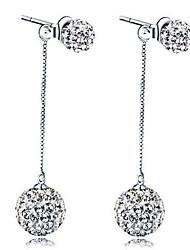 Earring Stud Earrings Jewelry Women Wedding / Party / Daily Sterling Silver / Rhinestone 1set Silver
