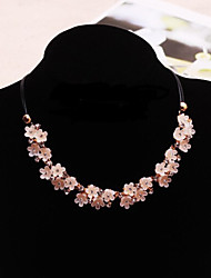 New Arrival Fashion Jewelry Fresh Rhinestone Flower Necklace