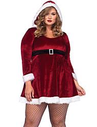 Navidad - para Mujer - Disfraces de Santa - Disfraces - Vestido / Cinturón -