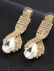 Stud Earrings Crystal Zircon Simulated Diamond Alloy Elegant Drop Jewelry Wedding Party Casual 2pcs