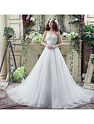 Wedding Dress - White Court Train Sweetheart Georgette