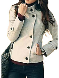 Women's Stand Short Woolen Jacket