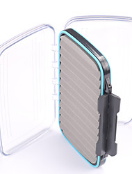 Mizugiwa Large Capacity Clear Double Layer Open Design Waterproof Foam Fly Fishing Bait Box Double Side 186*116*40mm
