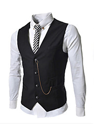 Men's cultivate one's morality metal chain decoration fashion vest ma3 jia3 business casual work MAIB13