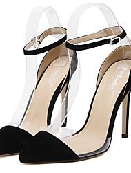 Women's Shoes Fleece Stiletto Heel Pointed Toe Heels Party & Evening / Dress Black / Yellow