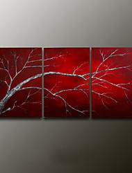 Pintados à mão Vida ImóvelModerno 3 Painéis Tela Pintura a Óleo For Decoração para casa