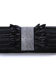 Women Satin Formal / Event/Party / Wedding Evening Bag White / Black
