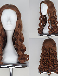 Fairytale Alice Long Brown Curly Wig Women's Anime Cosplay Wig