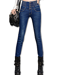 Women's Blue / Black / Gray Cotton / Jeans Pant , Sexy / Work