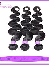 Corpo onda cabelo virgem qualidade 7a brasileira 3pcs muito cabelo humano tecer virgem brasileiro virgem não transformados