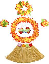 Burlesques/Payaso Disfraces de Cosplay Ropa de Fiesta Festival/Celebración Disfraces de Halloween Verde Amarillo Beige Rose Múltiples