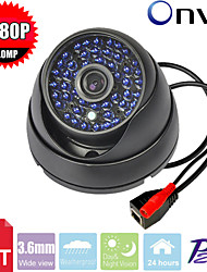Cctv 48pcs Leds Ir-cut Metal Case Armour Dome Ip Security Camera 2.0mp 720p P2p Network Surveillance Ip Camera