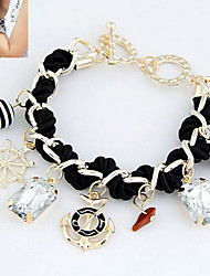 Fashion Jewelry Popular Crystal Weave Bracelet