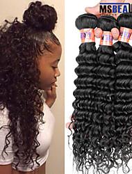 """3 pièces / lot 8 """"-28"""" 8a vague profonde malaisien vierge trame de cheveux humains remy 100% non transformés cheveu humain tisse"""