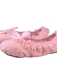 Non Customizable Women's / Kids' Dance Shoes Ballet / Canvas Flat Heel Pink