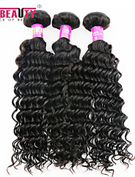 "3 Pcs /Lot 8""-30""7A Peruvian Virgin Hair Deep Wave Hair Extensions 100% Unprocessed Remy Human Hair Weaves"
