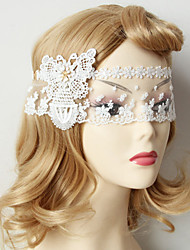 White Lace Butterfly Princess Party Mask