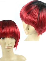 100% baratos pelucas glueless brasileñas del pelo humano real omber pelo Pelucas cortas rectas no hay pelucas bob de encaje para las