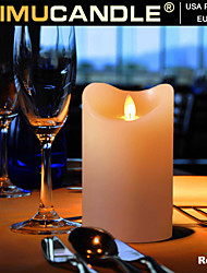 SIMUCANDLE® Real Wax Moving Flame Led Candle with Timer Function, US & EU Patents Approved 3pcs/set