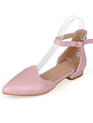 Women's Shoes Low Heel Pointed Toe Flats Casual Black / Pink / White