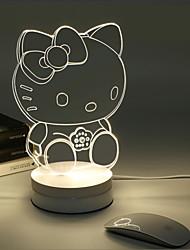 3D Stereo Desk Lamps LED Modern/Comtemporary Metal