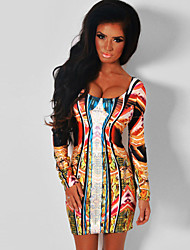 Women's  Paradise Luxe Multicolor Mirrored Illusion Print Dress