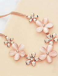 New Arrival Fashion Jewelry Fresh Popular Opal Flower Necklace