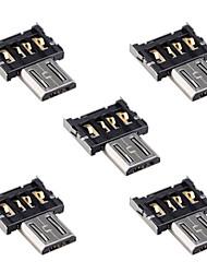 cy® conector micro USB OTG (5pçs)