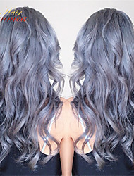 8A Virgin Malaysian Glueless Grey Lace Front Wig Body Wave Grey Human Hair Full Lace Wigs Human Hair Wigs For Women