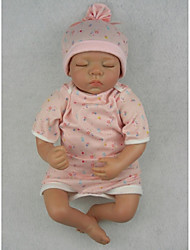 NPKDOLL Reborn Baby Doll Soft Silicone 22inch 55cm Magnetic Mouth Lifelike Cute Lovely Toy Sleeping Baby Flower
