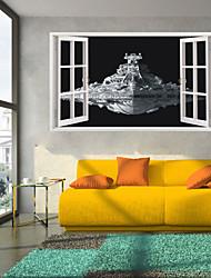 Caricatura / Romance / Militar / De moda / Paisaje / Formas / Transporte / 3D Pegatinas de pared Calcomanías 3D para Pared , PVC100cm x