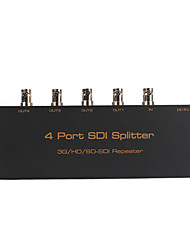 4-Port SDI Splitter Amplifier SDI Splitter 1X4 Distributor with Power Adapter for CCTV Cameras