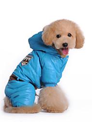 Собаки Плащи / Комбинезоны многоцветный Зима Полиция/армия Водонепроницаемый / Сохраняет тепло / Мода