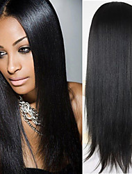 Good Cheap Human Hair Full Lace Wigs Light Yaki Straight Lace Front Wigs Bleached Knots With Baby Hair 8''-26''