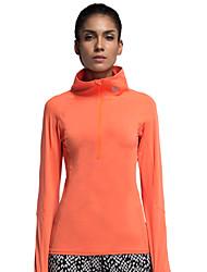 Vansydical® Women's Long Sleeve Running Tops Quick Dry Fall/Autumn Winter Sports Wear Leisure Sports Nylon