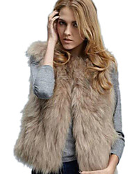 Women's Elegant Faux Fur Warm Sleeveless Coat