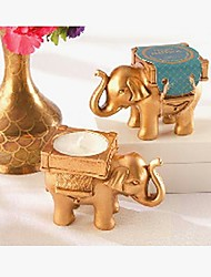 Gold Lucky Elephant Tealight Holder Wedding Favor