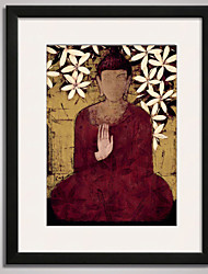 Framed  Buddha Statue Canvas Print Art for Wall Decoration  40x50cm Ready To Hang