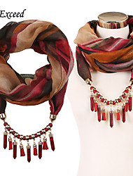 D Exceed Women's light weight infinity scarves with jewelry pendant 2015 new Arrival