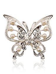 серебрение / жемчуг / горный хрусталь брошь женщины бабочки брошь свадьбы / участник 1шт