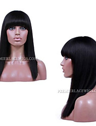 2016 Premier New Affordable Natural Looking Lace Front Wigs Long Bob With Bang Lace Wigs For Black Women