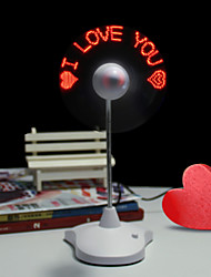 Valentine'S Day Romance Gift I Love You Led Handheld Mini Fan Lamp Light Led