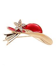 les femmes de la mode pierre mignon mis émail chapeau rouge métal broche