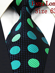 Men's Tie Dots Navy Blue 100% Silk New Fashion Casual