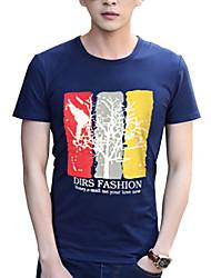 Herren Freizeit / Sport T-Shirt  -  Druck Kurz Baumwolle / Acryl