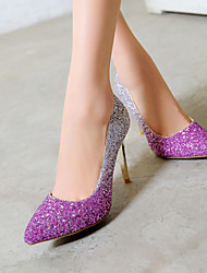 Women's Shoes Heel Heels / Pointed Toe Heels Wedding / Dress / Casual Pink / Red / Gray / Gold