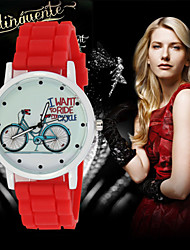 Bike Silicone Geneva Watch Women Watches Ladies Quartz Watch Dress Wrist Watch Cool Watches Unique Watches